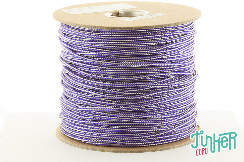 150m Spool Type II TINKER Cord in color ACID PURPLE & WHITE STRIPE