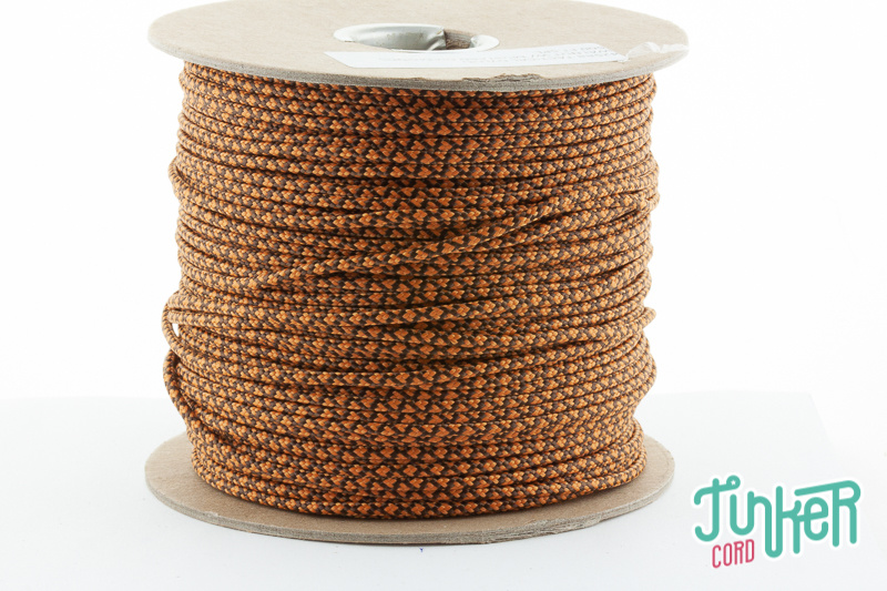 150m Rolle Type II TINKER Cord, Farbe WALNUT & MUSTARD DIAMONDS