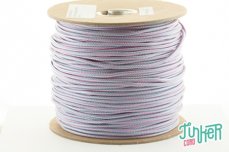 150m Rolle Type II TINKER Cord, Farbe ROSE PINK & TURQUOISE STRIPE